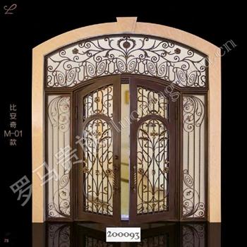 手工锻造别墅入户门200093的图片